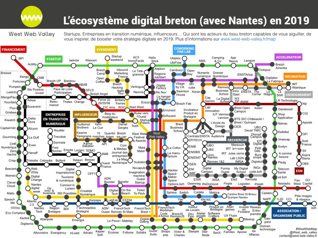 carte ecosysteme numerique Bretagne