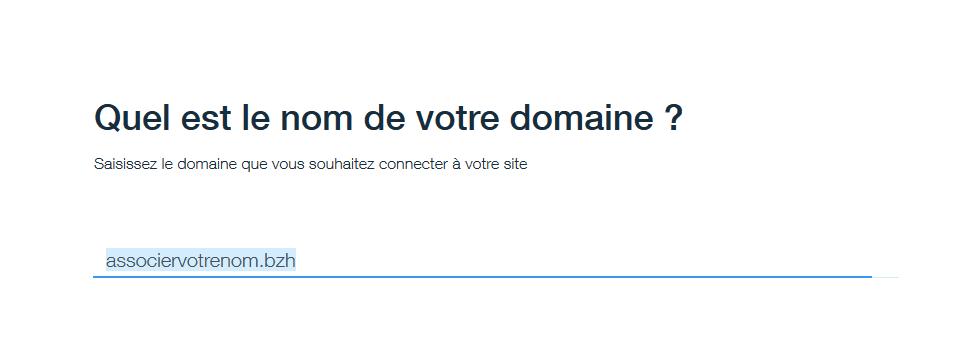associer nom de domaine .bzh wix.com 2