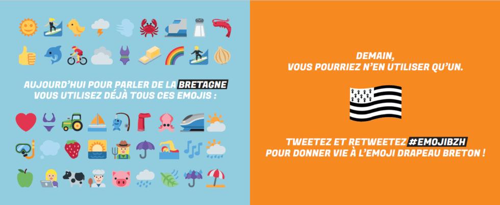 Tweetez pour soutenir la création de l'emoji drapeau breton !