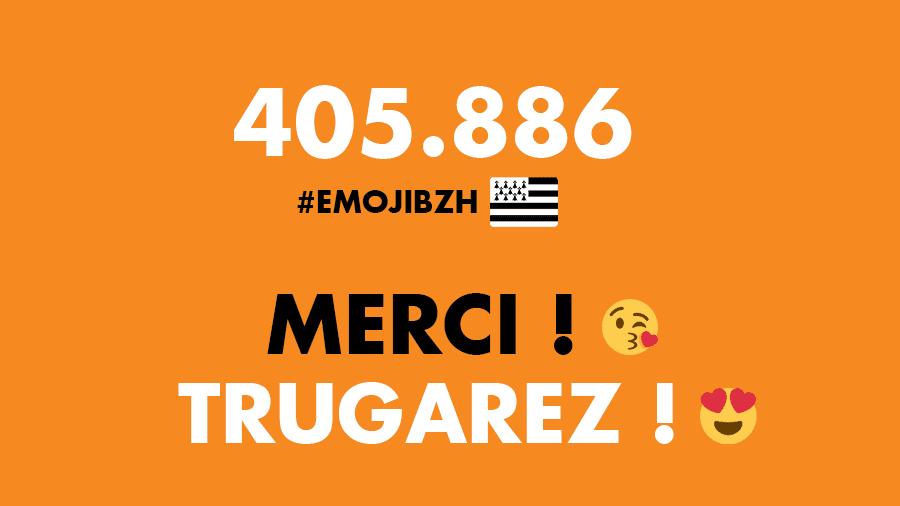 Plus de 400 000 emojis drapeaux bretons générés sur Twitter en 4 semaines !