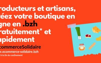 #EcommerceSolidaire : des boutiques de vente en ligne gratuites pour les TPE bretonnes