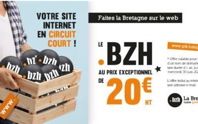 Votre nom en .bzh pour un prix promo à 20 € ! 🙂
